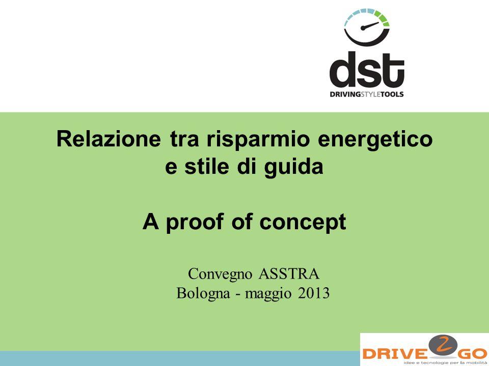 Relazione tra risparmio energetico e stile di guida A proof of concept Convegno ASSTRA Bologna - maggio 2013
