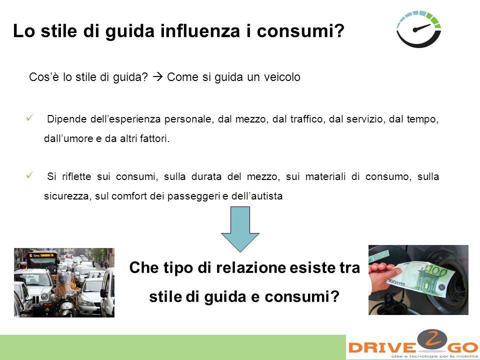Prove consumi: Correlazione ECO INDEX - KPL Al diminuire dellEco Index (EI) aumentano i km al litro (KPL)