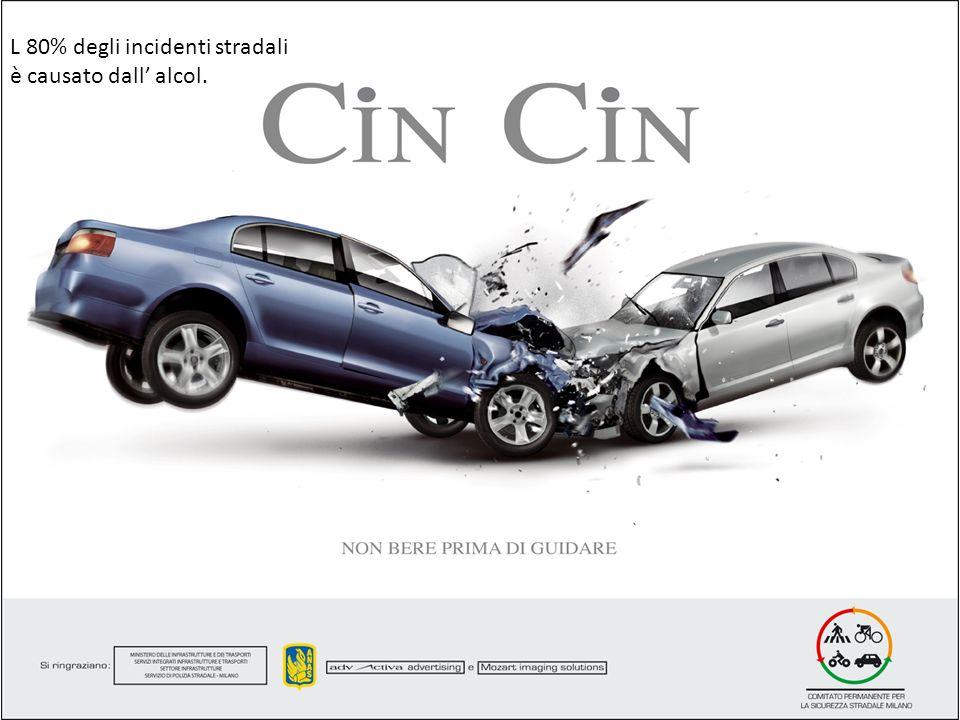 L 80% degli incidenti stradali è causato dall alcol.