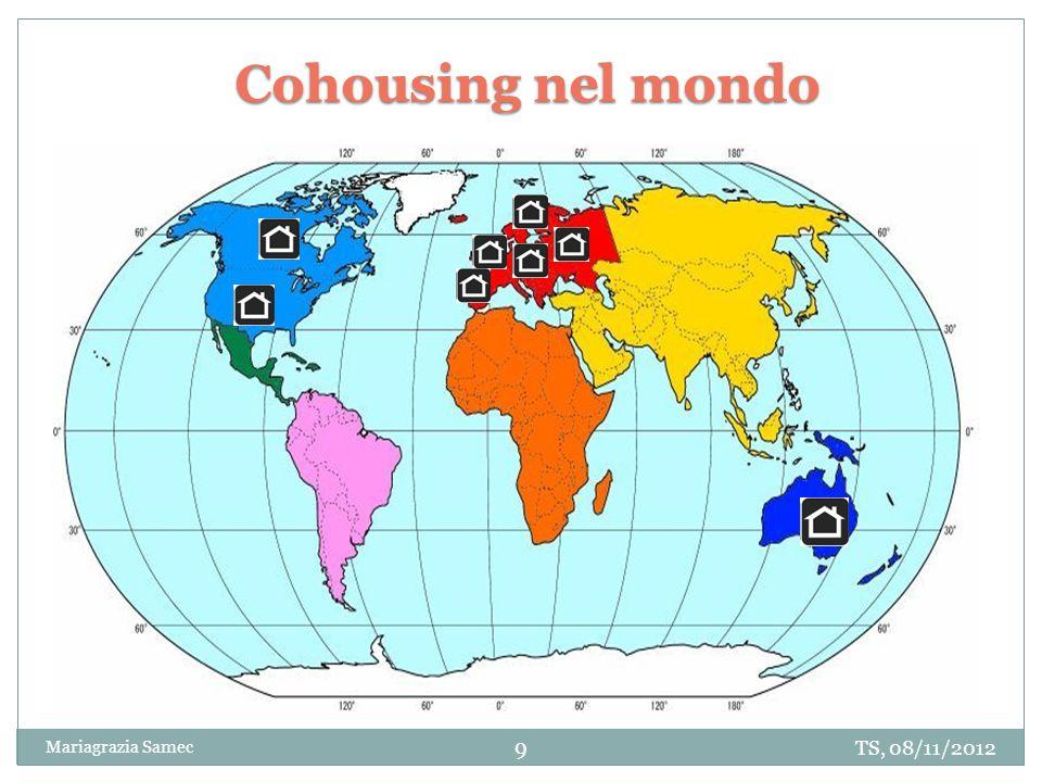 TS, 08/11/2012 Mariagrazia Samec 9 Cohousing nel mondo