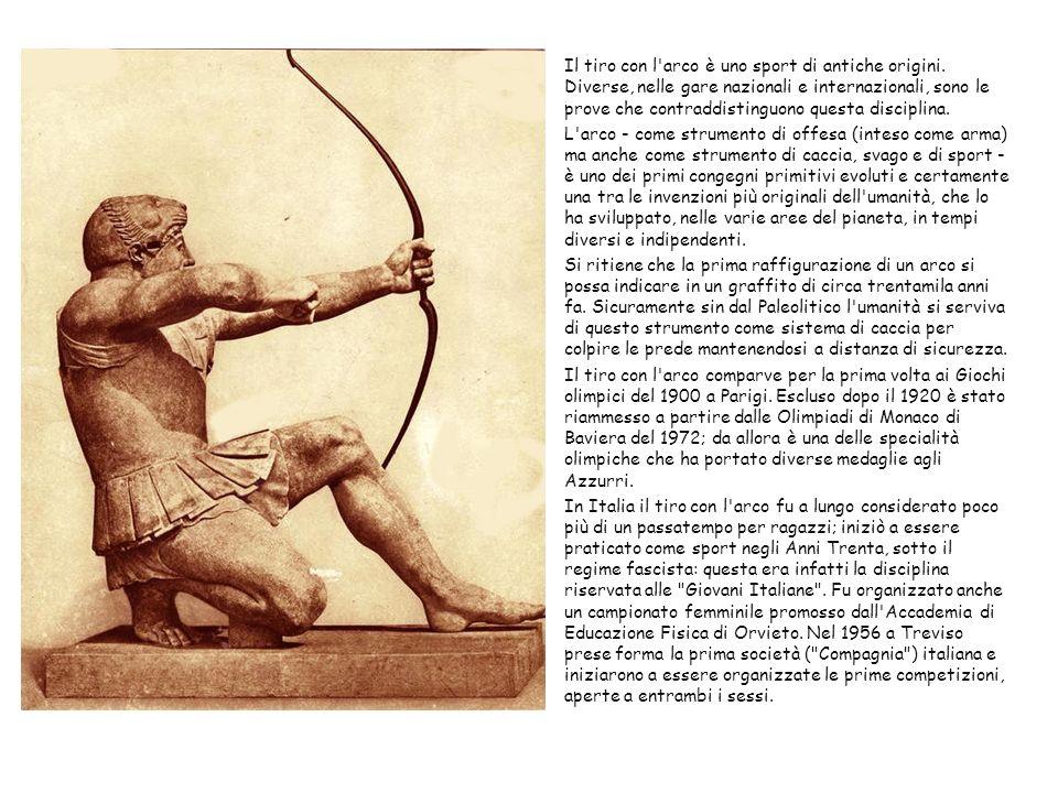 Il tiro con l'arco è uno sport di antiche origini. Diverse, nelle gare nazionali e internazionali, sono le prove che contraddistinguono questa discipl