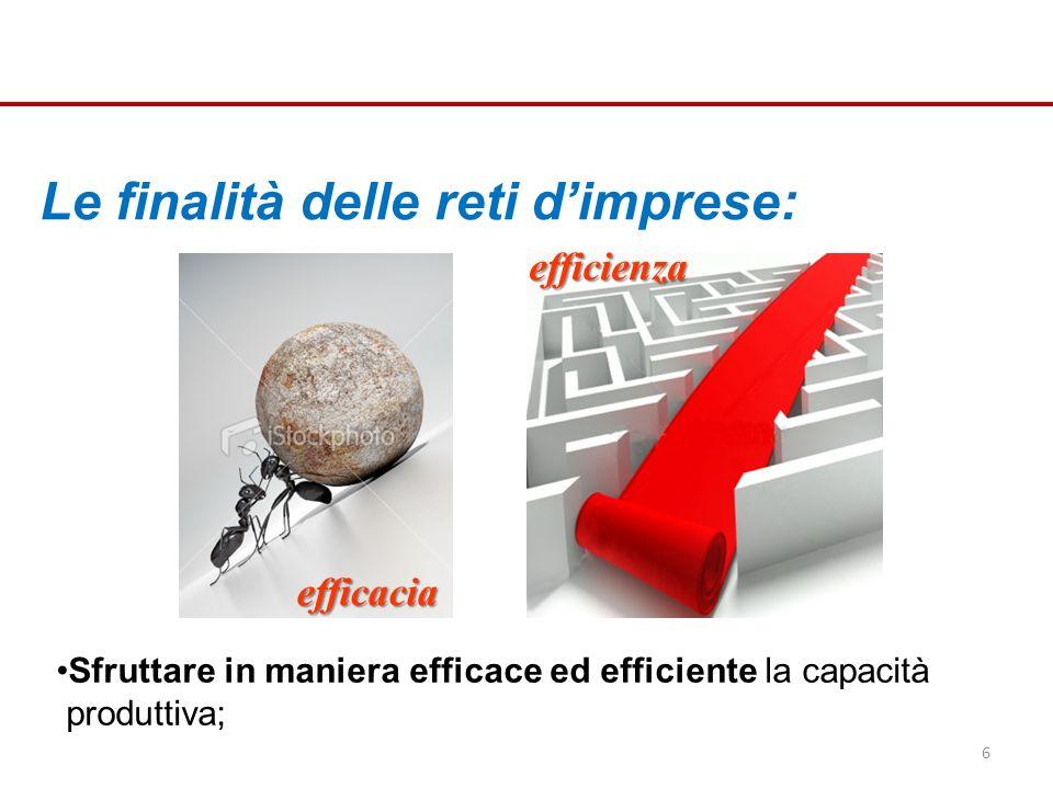 Sfruttare in maniera efficace ed efficiente la capacità produttiva; efficacia 6 efficienza