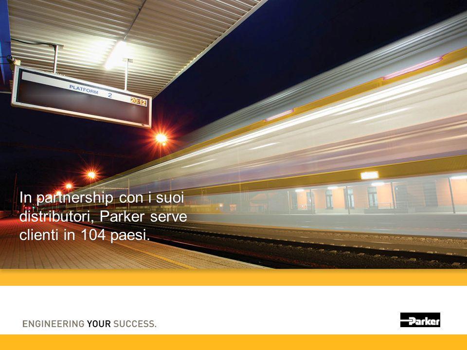 In partnership con i suoi distributori, Parker serve clienti in 104 paesi.