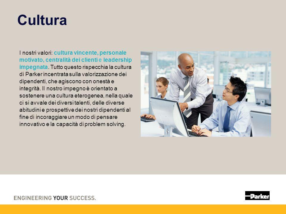Cultura I nostri valori: cultura vincente, personale motivato, centralità dei clienti e leadership impegnata.