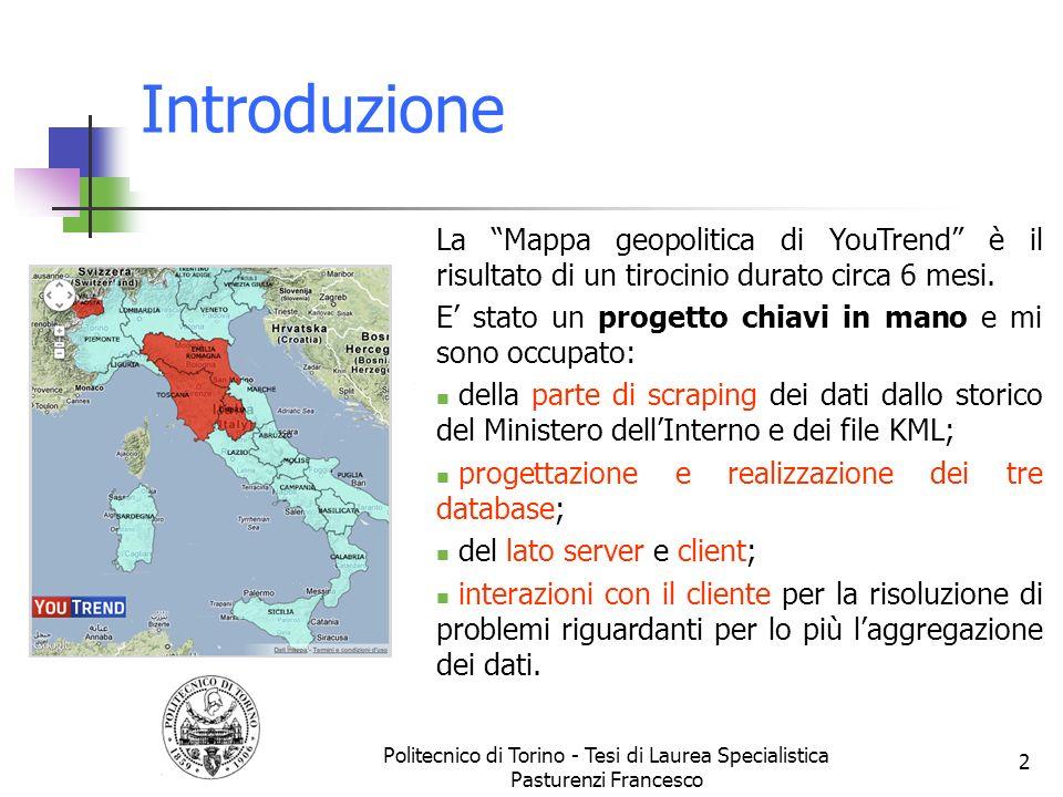 Introduzione Lelaborato riguarda la creazione di un applicativo web progettato per evidenziare landamento dei partiti politici dal 1946 al 2008 in Ita
