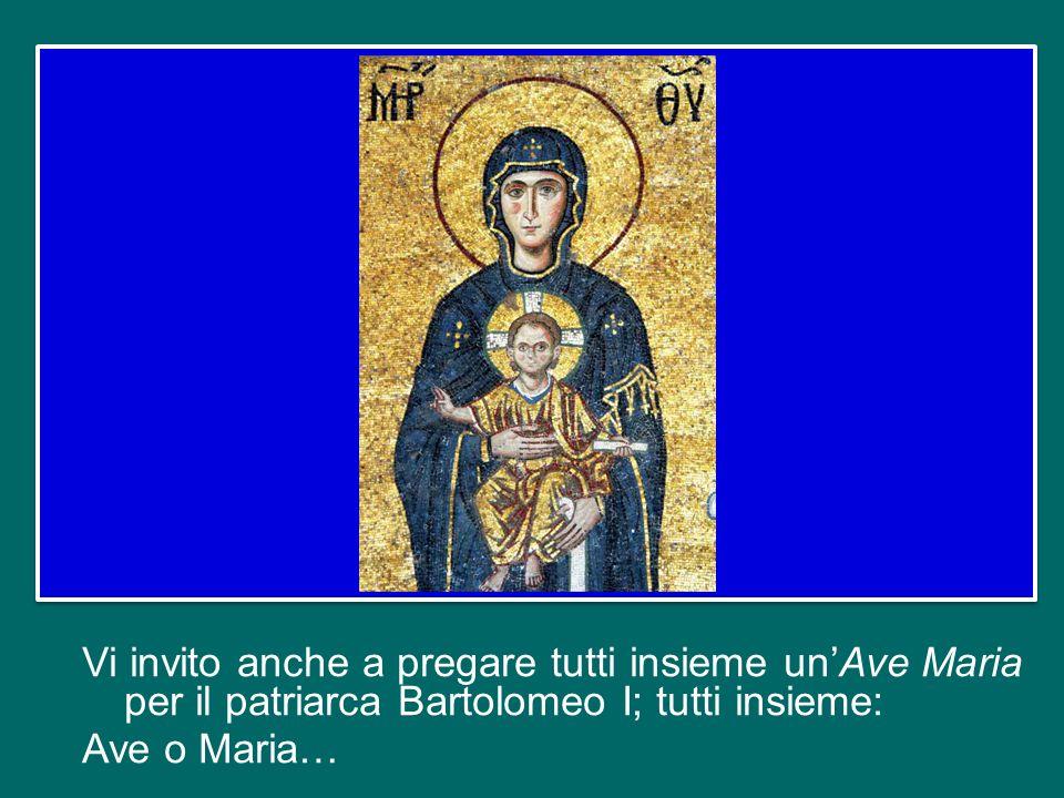 Mi piace ricordarlo anche perché oggi, secondo la bella tradizione, è presente a Roma la Delegazione del Patriarcato di Costantinopoli, che ha come Pa