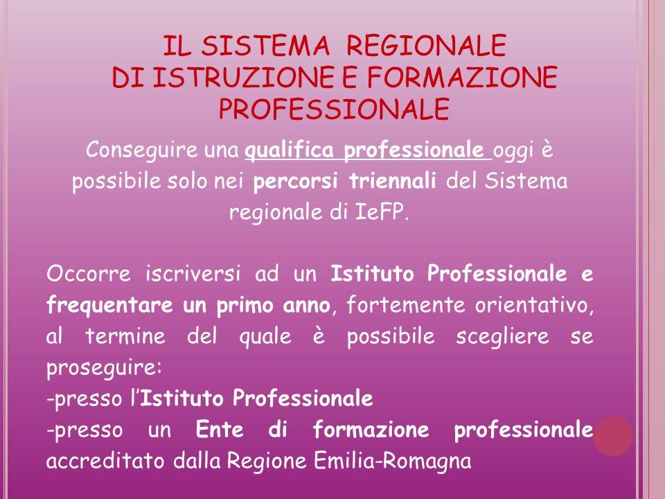 Conseguire una qualifica professionale oggi è possibile solo nei percorsi triennali del Sistema regionale di IeFP.
