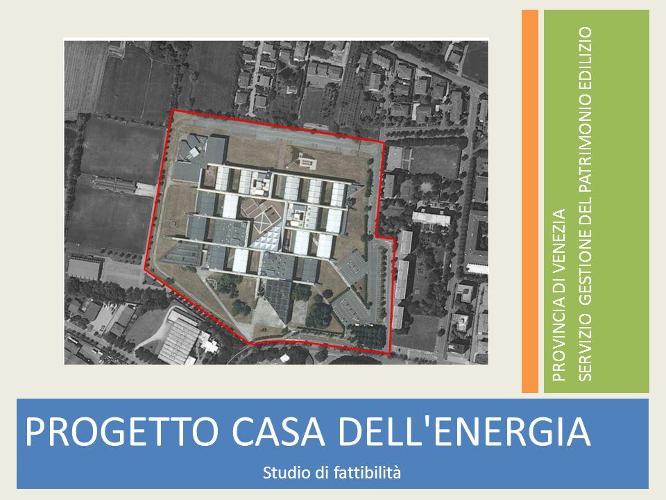 PROGETTO CASA DELL'ENERGIA Studio di fattibilità PROVINCIA DI VENEZIA SERVIZIO GESTIONE DEL PATRIMONIO EDILIZIO