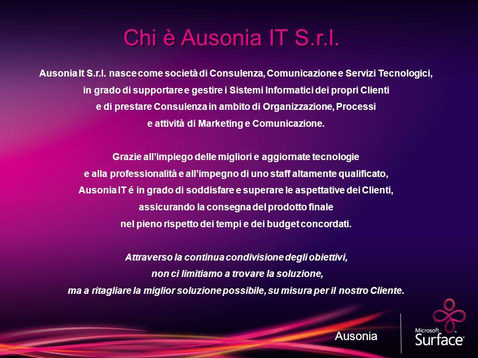Ausonia It S.r.l. nasce come società di Consulenza, Comunicazione e Servizi Tecnologici, in grado di supportare e gestire i Sistemi Informatici dei pr