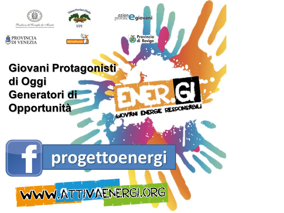 progettoenergi Giovani Protagonisti di Oggi Generatori di Opportunità