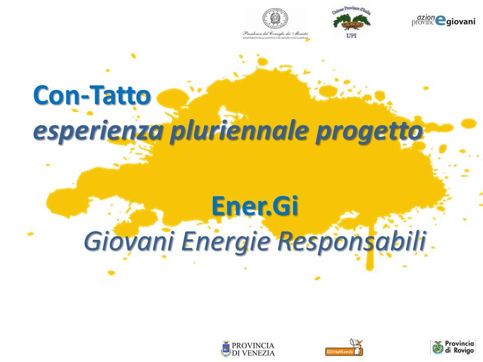 Ener.Gi Giovani Energie Responsabili Con-Tatto esperienza pluriennale progetto