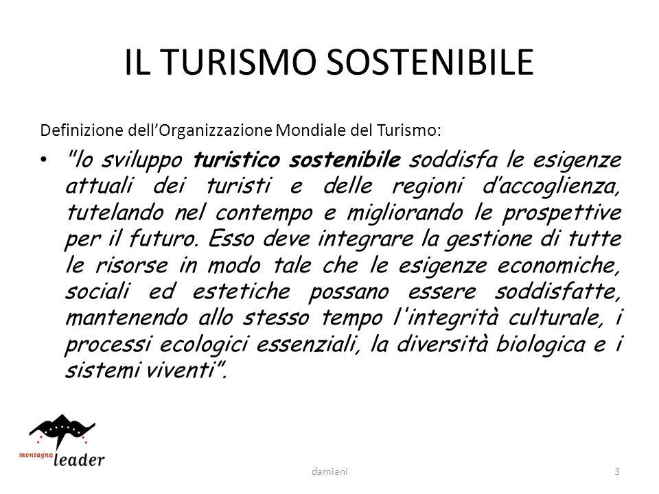 3 IL TURISMO SOSTENIBILE Definizione dellOrganizzazione Mondiale del Turismo: