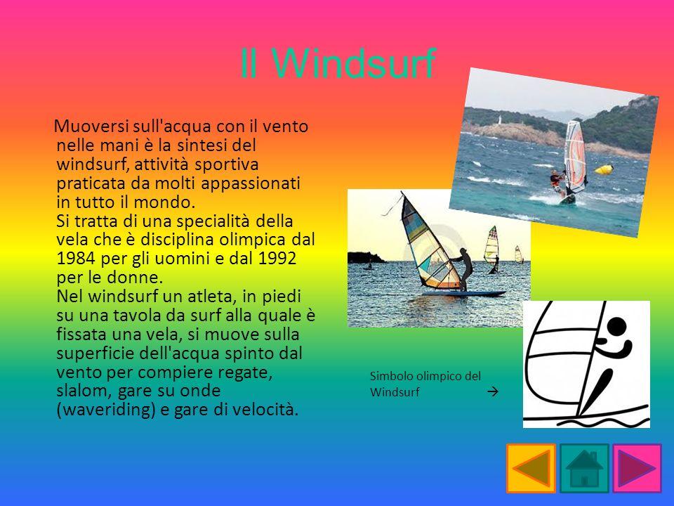 Il Windsurf Muoversi sull'acqua con il vento nelle mani è la sintesi del windsurf, attività sportiva praticata da molti appassionati in tutto il mondo