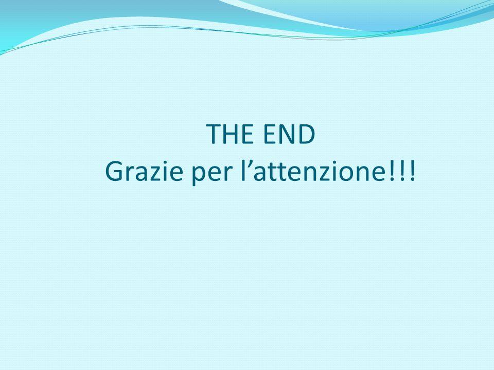 THE END Grazie per lattenzione!!!
