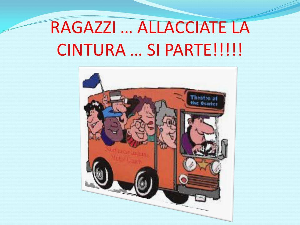 RAGAZZI … ALLACCIATE LA CINTURA … SI PARTE!!!!!