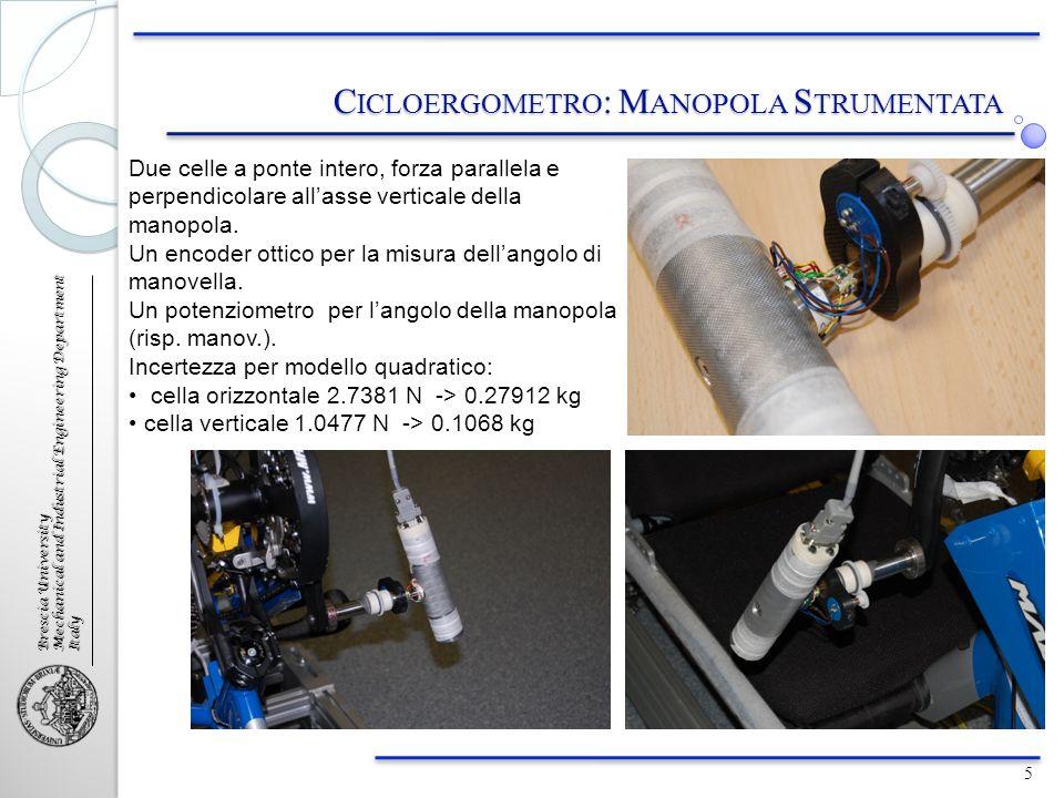 Brescia University Mechanical and Industrial Engineering Department Italy C ONTROLLO CON C ELLA DI C ARICO 16