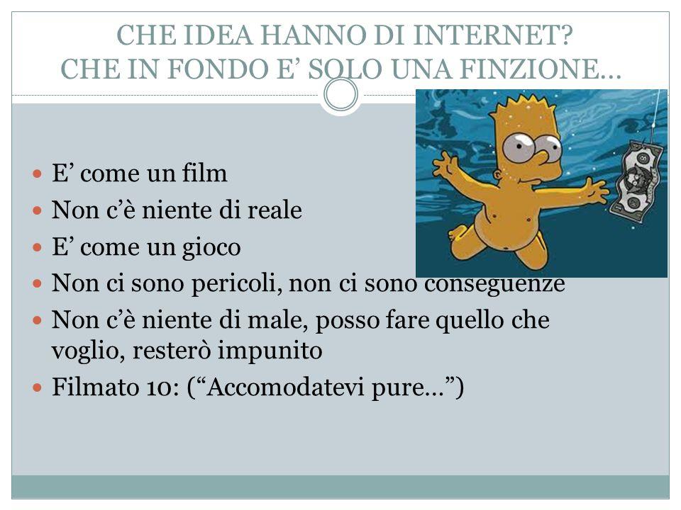 CHE IDEA HANNO DI INTERNET.CHE IN FONDO E SOLO UNA FINZIONE...