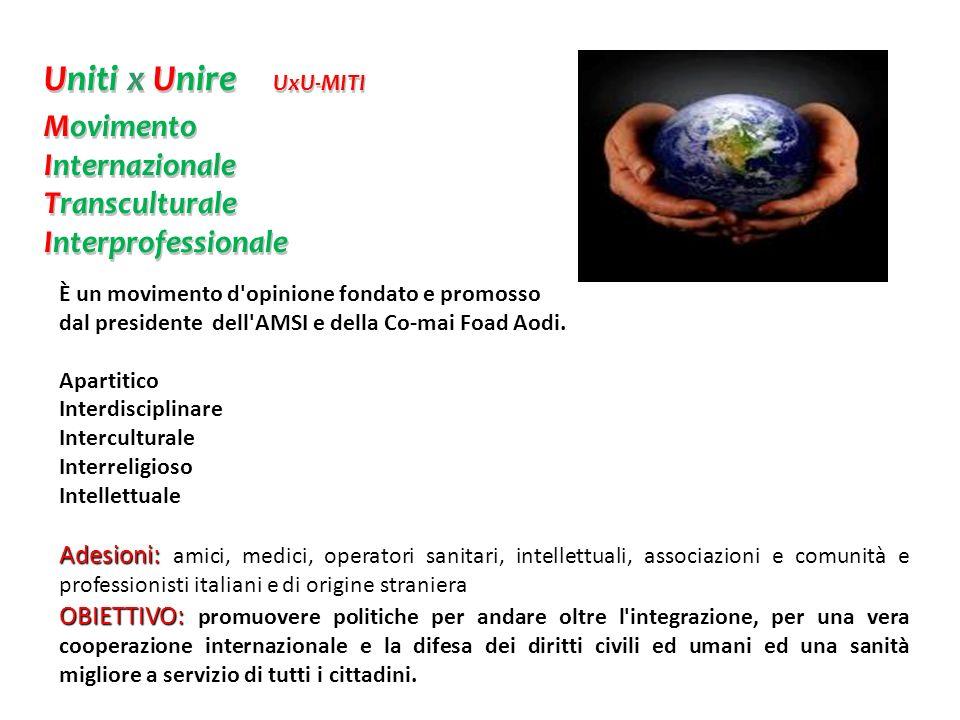 È un movimento d'opinione fondato e promosso dal presidente dell'AMSI e della Co-mai Foad Aodi. Apartitico Interdisciplinare Interculturale Interrelig