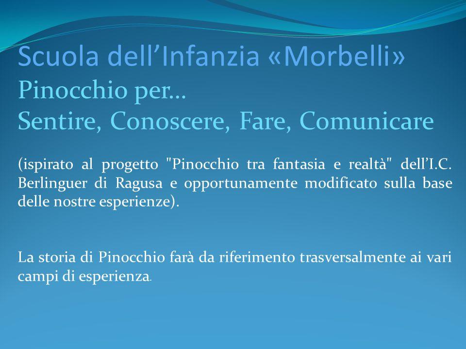Scuola dellInfanzia «Morbelli» Pinocchio per… Sentire, Conoscere, Fare, Comunicare (ispirato al progetto