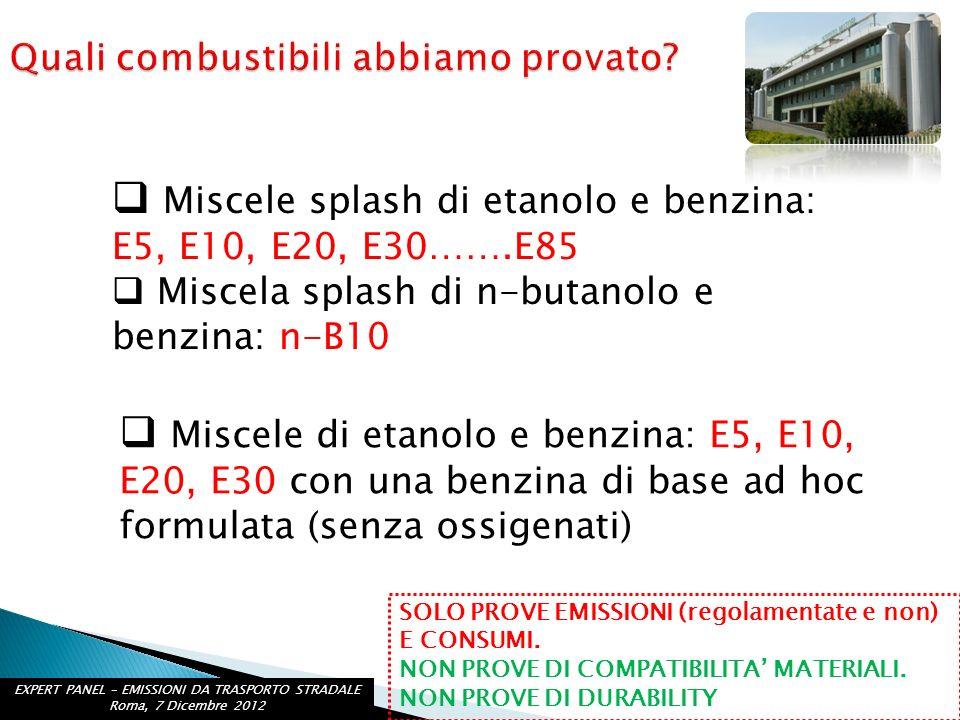EXPERT PANEL – EMISSIONI DA TRASPORTO STRADALE Roma, 7 Dicembre 2012 http://www.crcao.org/news/Mid%20Level%20Ethanol%20program/index.html