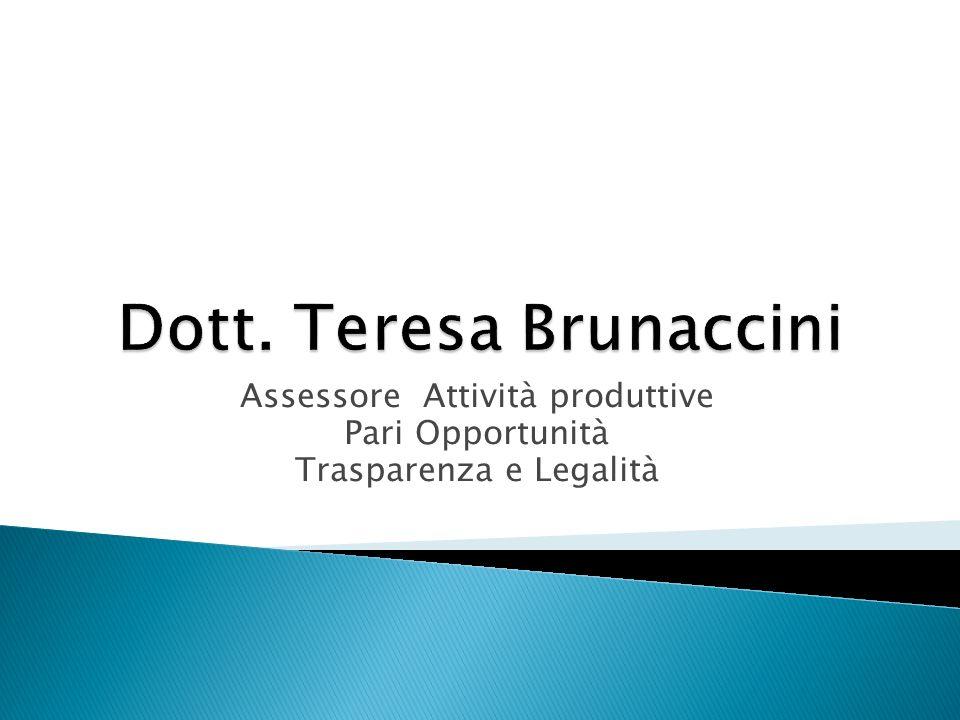 Assessore Attività produttive Pari Opportunità Trasparenza e Legalità