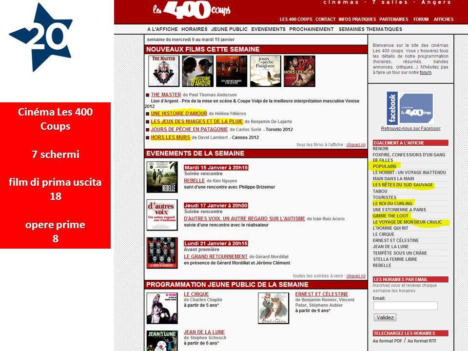 Cinéma Les 400 Coups 7 schermi film di prima uscita 18 opere prime 8