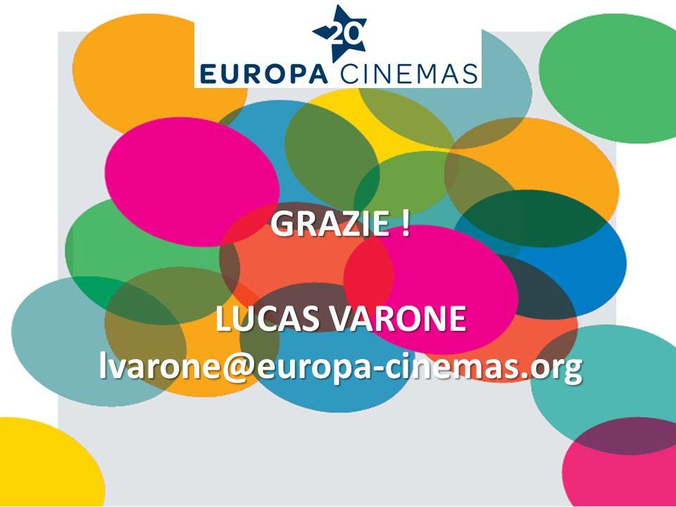 GRAZIE ! LUCAS VARONE lvarone@europa-cinemas.org