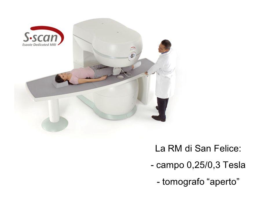 Fasi di esecuzione di esame RM Il paziente è posto in un magnete E inviato impulso RF (onde e.m.