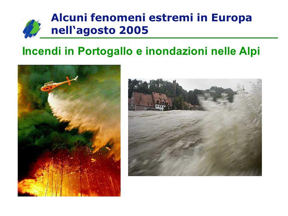 Alcuni fenomeni estremi in Europa nellagosto 2005 Incendi in Portogallo e inondazioni nelle Alpi