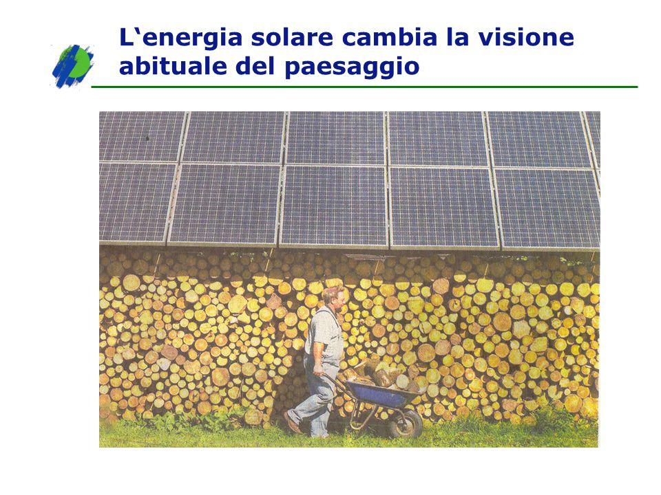 Lenergia solare cambia la visione abituale del paesaggio
