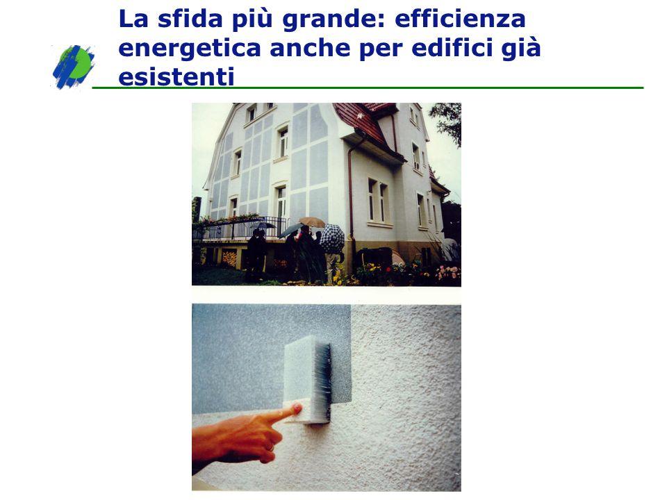 La sfida più grande: efficienza energetica anche per edifici già esistenti