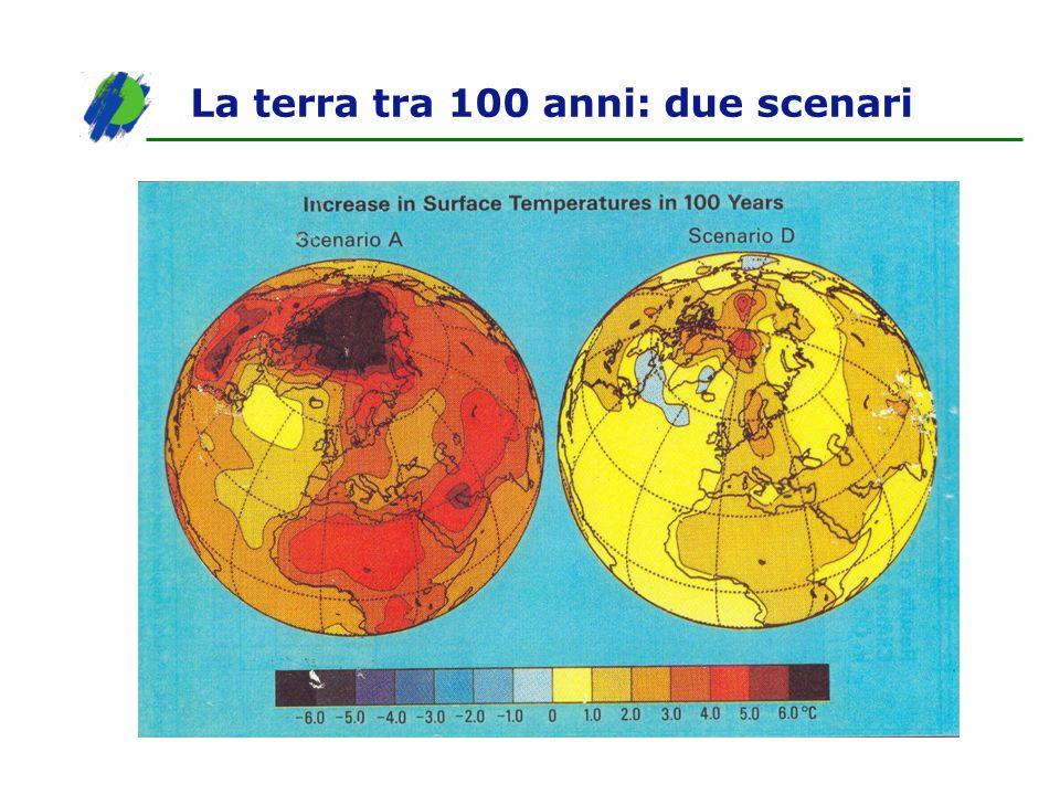 La terra tra 100 anni: due scenari