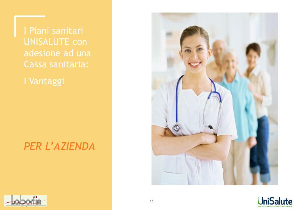 I Piani sanitari UNISALUTE con adesione ad una Cassa sanitaria: I Vantaggi PER LAZIENDA 11