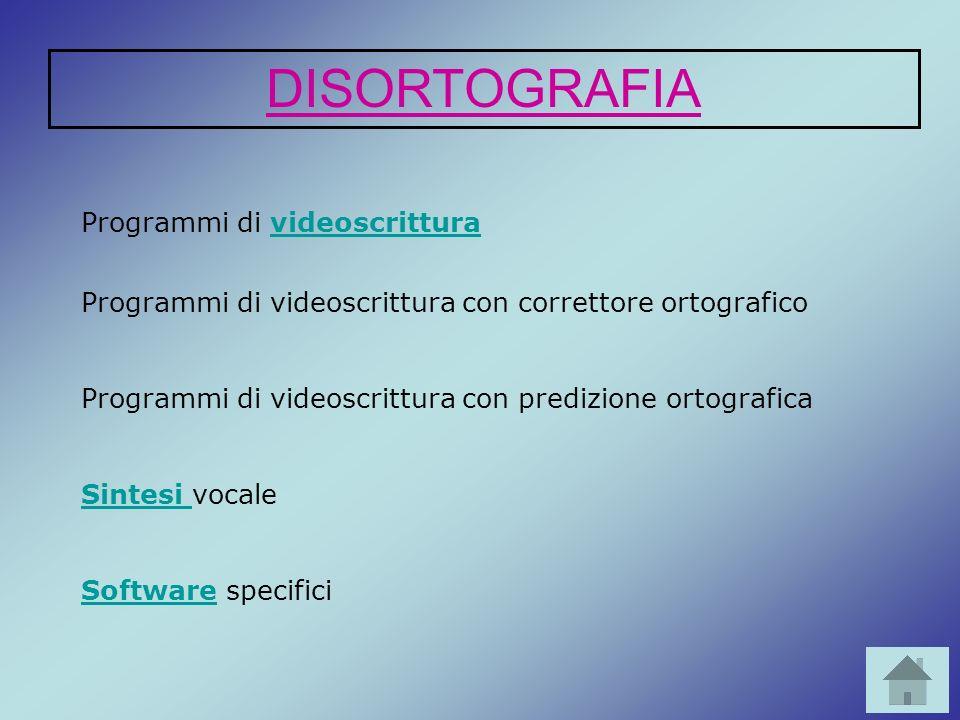 Programmi di videoscritturavideoscrittura Programmi di videoscrittura con correttore ortografico Programmi di videoscrittura con predizione ortografic