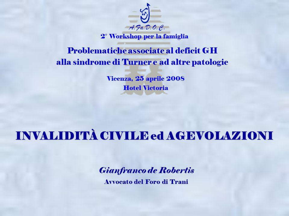 2° Workshop per la famiglia Problematiche associate al deficit GH alla sindrome di Turner e ad altre patologie Vicenza, 25 aprile 2008 Hotel Victoria
