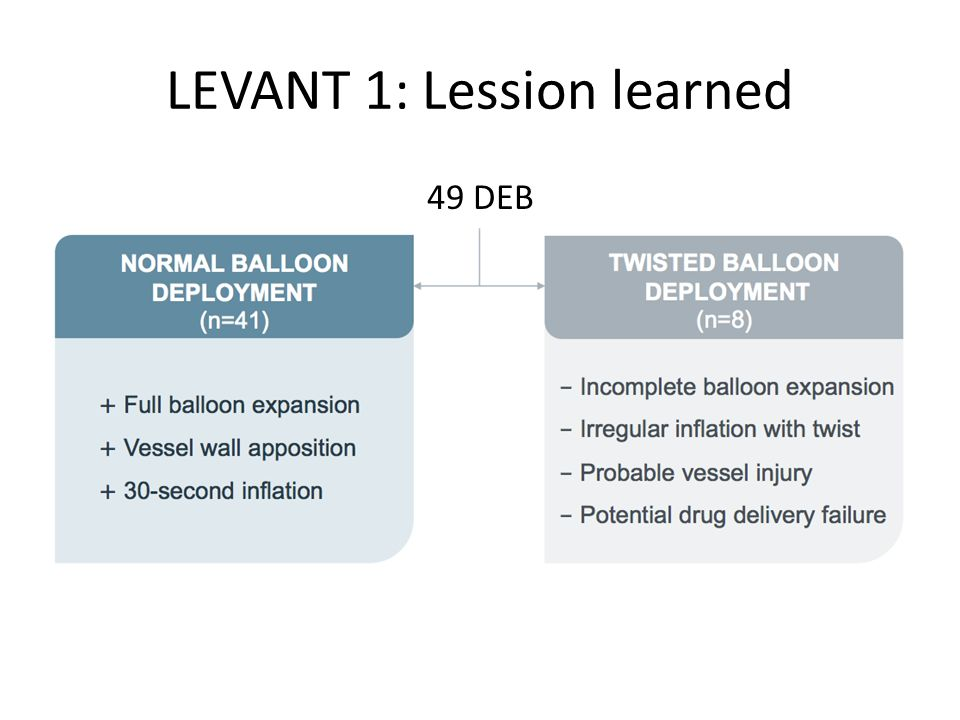 LEVANT 1: Lession learned 49 DEB