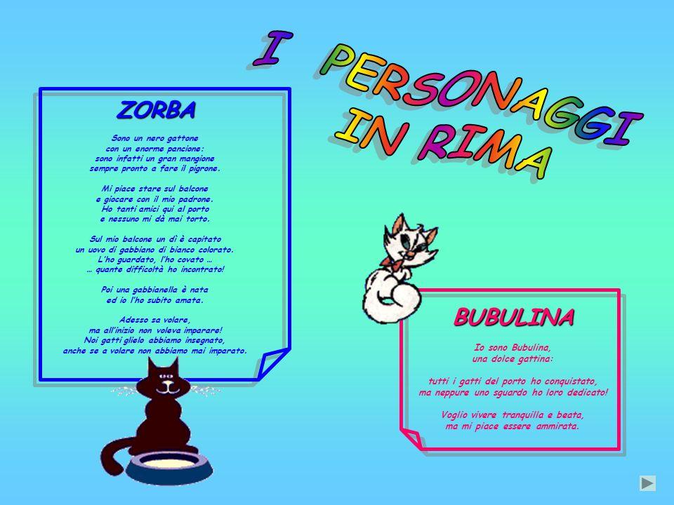 ZORBA Sono un nero gattone con un enorme pancione: sono infatti un gran mangione sempre pronto a fare il pigrone.