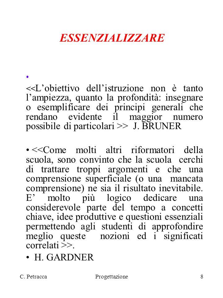C.PetraccaProgettazione9 NUCLEO FONDANTE. DEFINIZIONE DI NUCLEO > >.