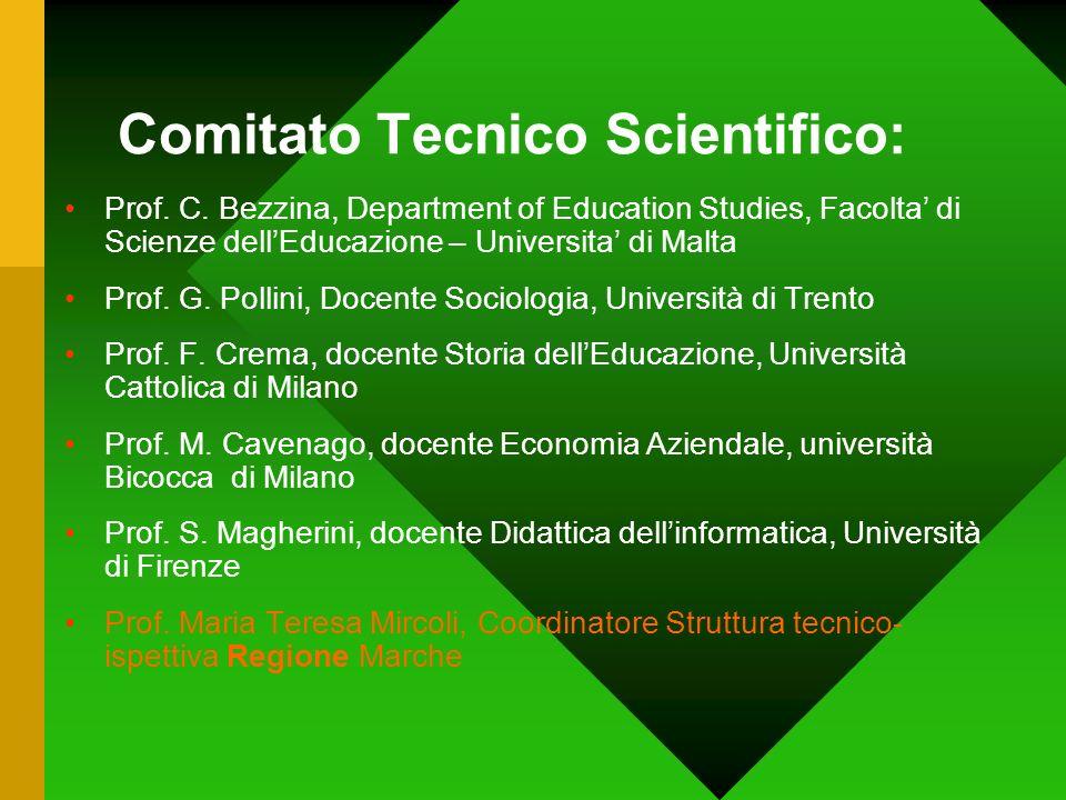 Comitato Tecnico Scientifico: Prof. C. Bezzina, Department of Education Studies, Facolta di Scienze dellEducazione – Universita di Malta Prof. G. Poll