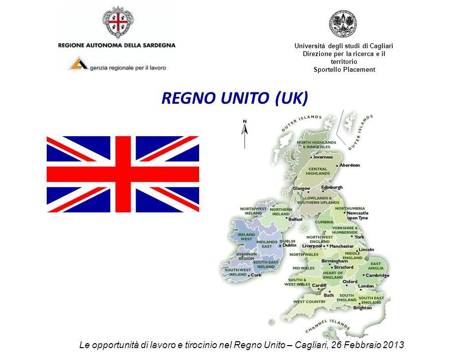 Università degli studi di Cagliari Direzione per la ricerca e il territorio Sportello Placement REGNO UNITO (UK) Le opportunità di lavoro e tirocinio