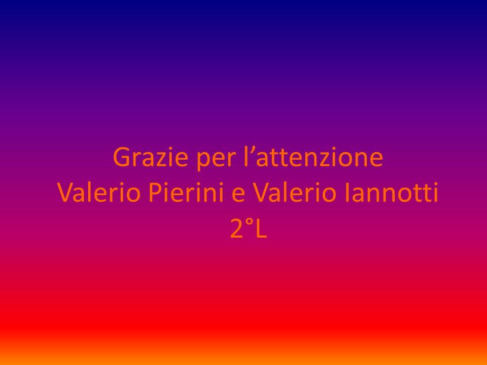 Grazie per lattenzione Valerio Pierini e Valerio Iannotti 2°L