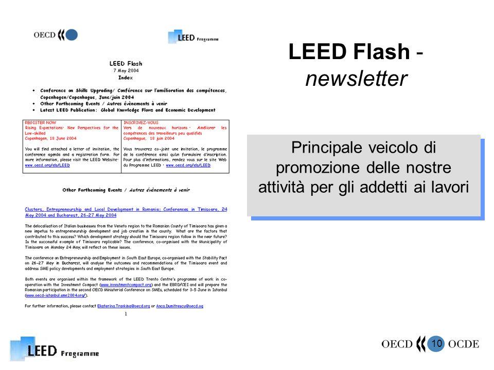 10 LEED Flash - newsletter Principale veicolo di promozione delle nostre attività per gli addetti ai lavori