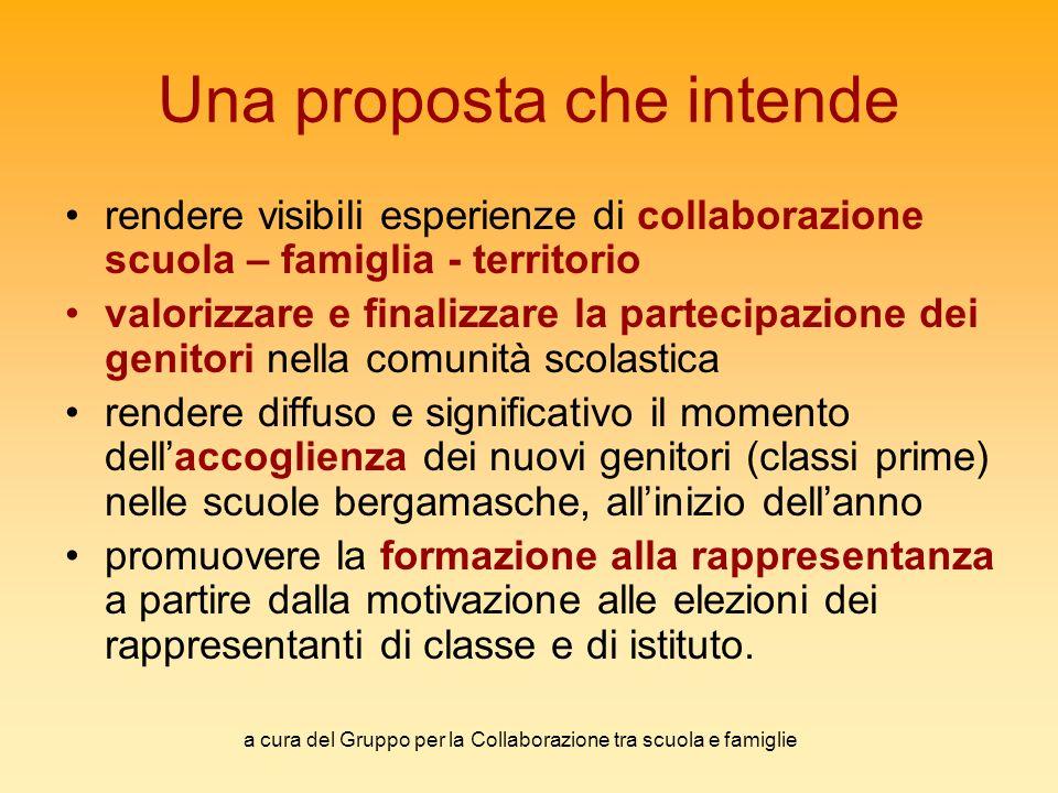 a cura del Gruppo per la Collaborazione tra scuola e famiglie Una proposta che intende rendere visibili esperienze di collaborazione scuola – famiglia