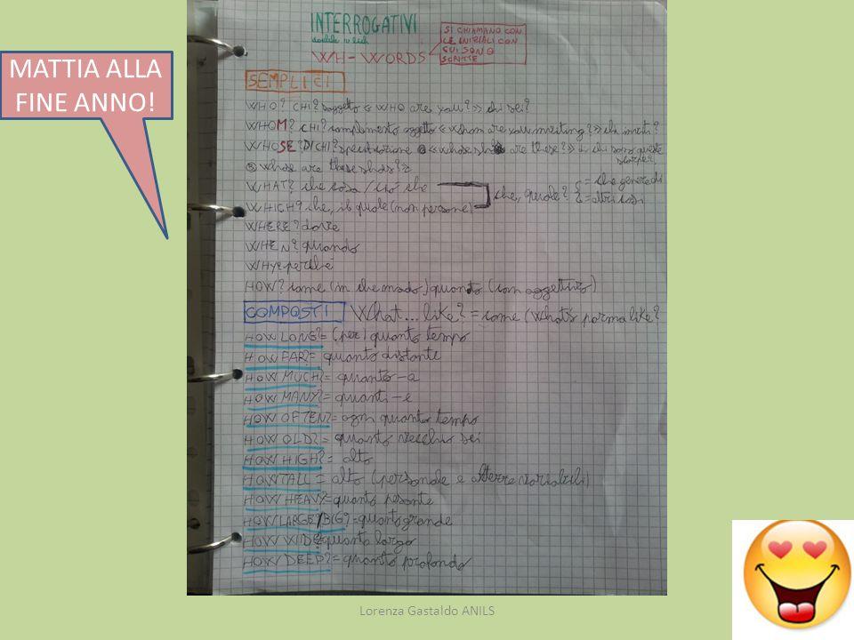 Lorenza Gastaldo ANILS MATTIA ALLA FINE ANNO!