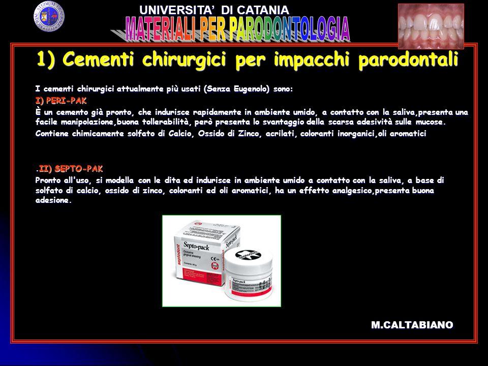 3) Materiali sostitutivi dellosso 3) Materiali sostitutivi dellosso c) SINTlife (Calcio-fosfato arricchito con magnesio).