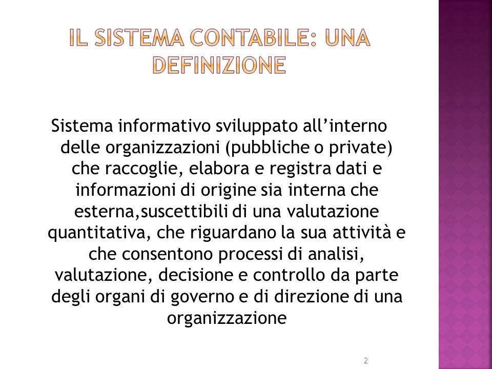 2 Sistema informativo sviluppato allinterno delle organizzazioni (pubbliche o private) che raccoglie, elabora e registra dati e informazioni di origin