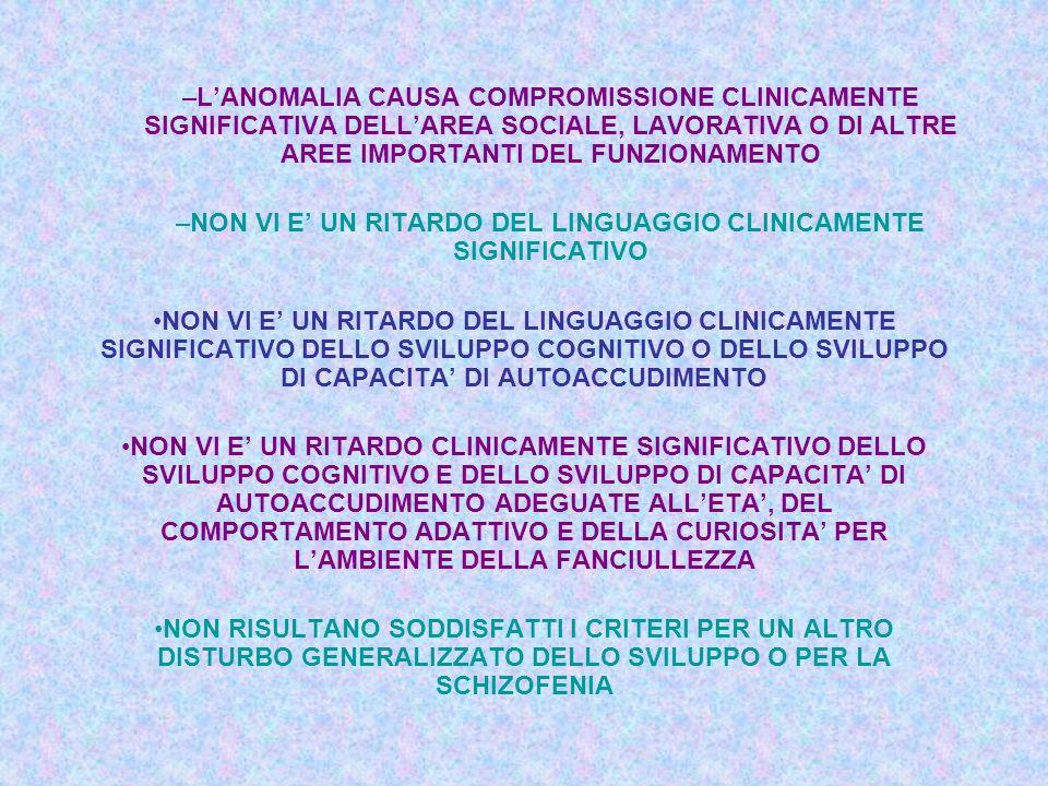 SPECIFICA DIFFICOLTA NELLINTEGRARE INFORMAZIONI A DIFFERENTI LIVELLI (FRIT H.