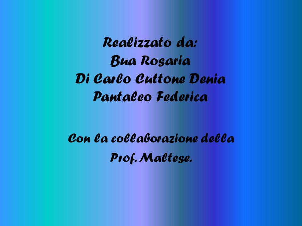Realizzato da: Bua Rosaria Di Carlo Cuttone Denia Pantaleo Federica Con la collaborazione della Prof. Maltese.