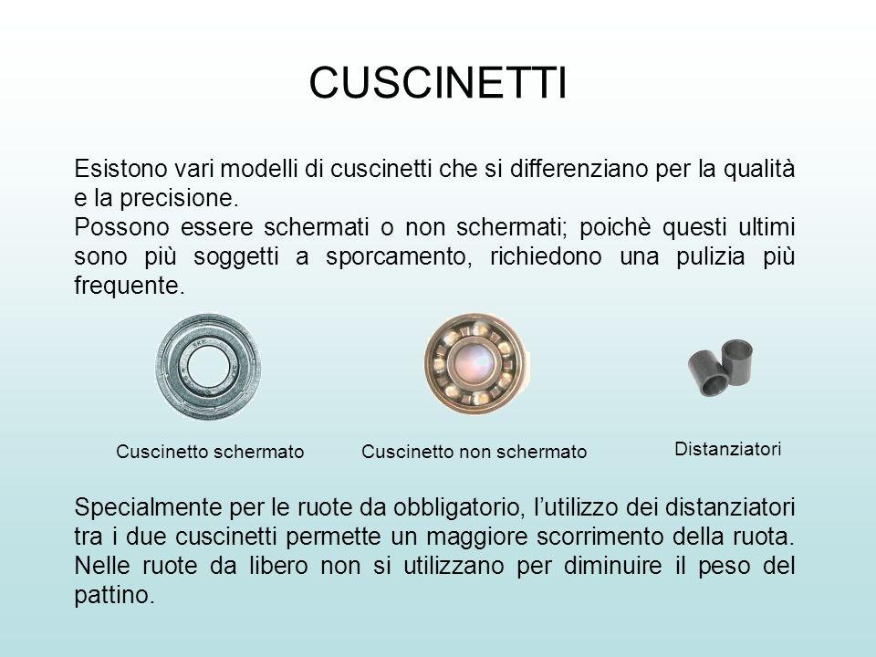 CUSCINETTI Esistono vari modelli di cuscinetti che si differenziano per la qualità e la precisione.