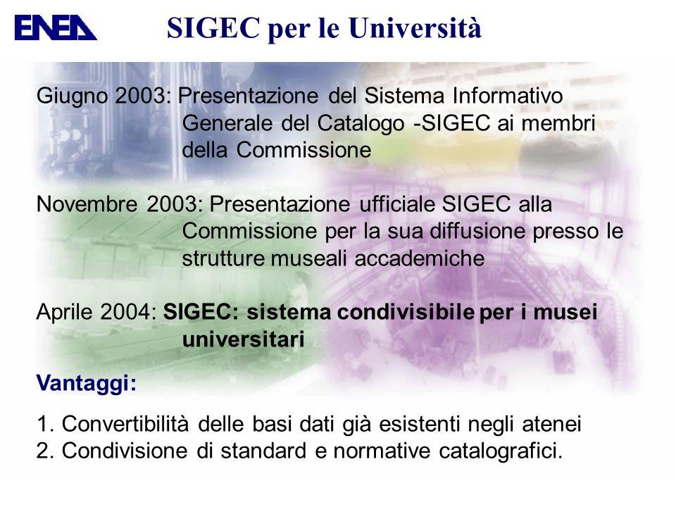 Vantaggi: 1.Convertibilità delle basi dati già esistenti negli atenei 2.Condivisione di standard e normative catalografici. Giugno 2003: Presentazione